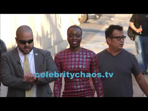 Actress Danai Gurira makes fans happy greeting Jimmy Kimmel live fans
