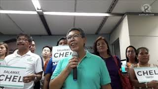 Chel Diokno to teary-eyed supporters: 'I will never forget the love you gave me'
