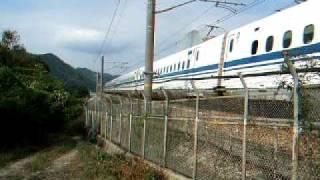 大津トンネル西側スポット穴場撮影スポット×新幹線×赤穂