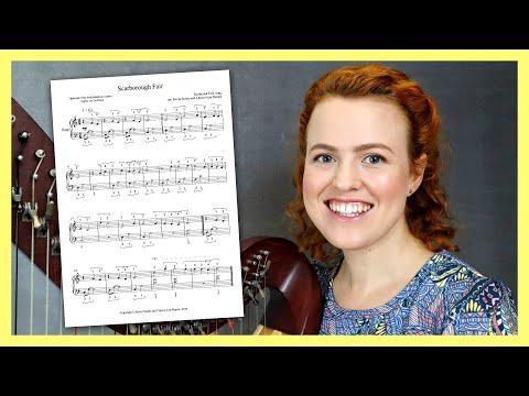 Free Harp Lesson: Scarborough Fair for beginners!
