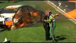FEATURETTE ON FIERY PERTH V8 SUPERCAR ACCIDENT