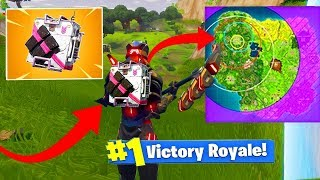 TOP 1 AVEC LE NOUVEAU TRAQUEUR DE LA TEMPETE - FORTNITE BATTLE ROYALE (Storm Tracker Gameplay) !