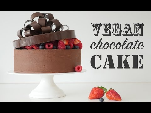 How to make a VEGAN CHOCOLATE CAKE RECIPE How To Cook That Ann Reardon & vegan frosting