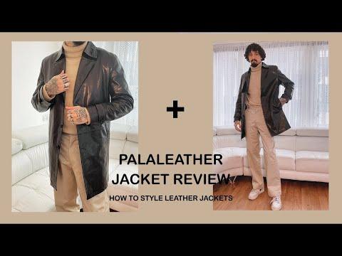 PalaLeather Embroidered Belted Vegetable Tanned Goatskin Leather Jacket