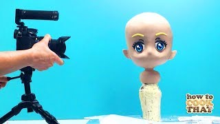 how to make an anime CAKE   3d gravity defying   how to cook that