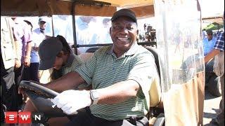 Ramaphosa tees up for charity