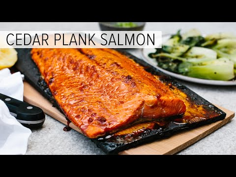 CEDAR PLANK SALMON | with maple ginger glaze