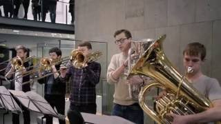 Flash Mob at the Science Museum. Royal College of Music Philharmonic play Holst's Planets