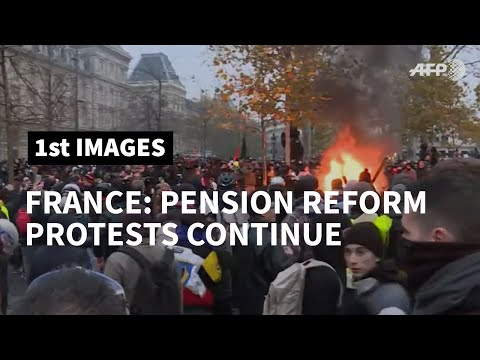 French pension reform protests: tensions between police and protesters in Paris   AFP