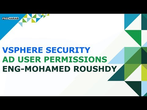 02-vSphere Security    AD user permissions Part 2 By Eng-Mohamed Roushdy   Arabic