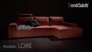Lorè, divano componibile in pelle o tessuto, Dondi Salotti