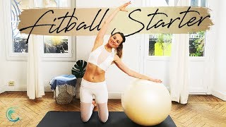 Starter PILATES Fitball workout for stronger abs & obliques