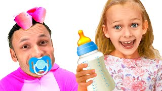 Maya And Mary Pretend Play Parents | Funny Stories For Kids