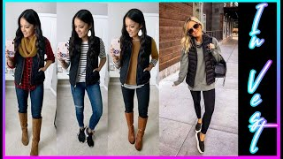 BEAUTIFUL CASUAL OUTFITS WITH VEST LAST TRENDS❤ HERMOSOS OUTFITS CASUALES CON CHALECO LAST TRENDS