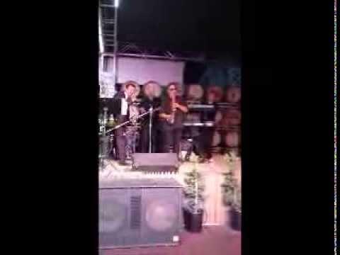 Eddie Lopez with The Dave Aquallo Band At Fresno Fair 2012