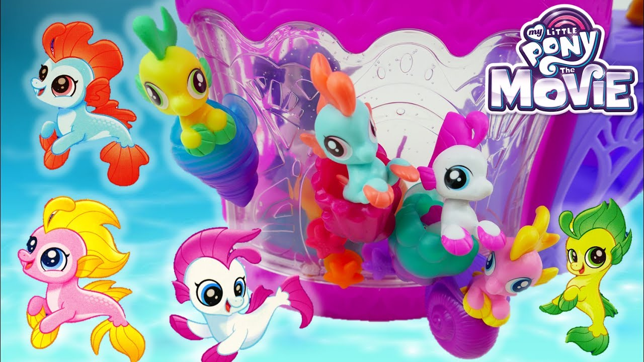 My Little Pony The Movie Baby Seapony Bubble Splash Sea Poppy Lilly Drop Jelly Bee