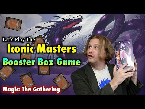 MTG – Let's Play The Iconic Masters Booster Box Game! Opening Magic: The Gathering Cards!