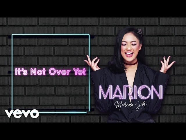 Marion Jola - It's Not  Over Yet (Lyric Video)