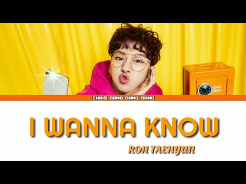 ROH TAEHYUN (노태현) - 'I WANNA KNOW' [Coded Lyrics Eng/Rom/Han/Kor]