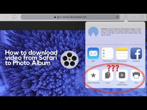 How to Easily Download Videos from Safari to Photo Album (iOS 11 & iOS 12)