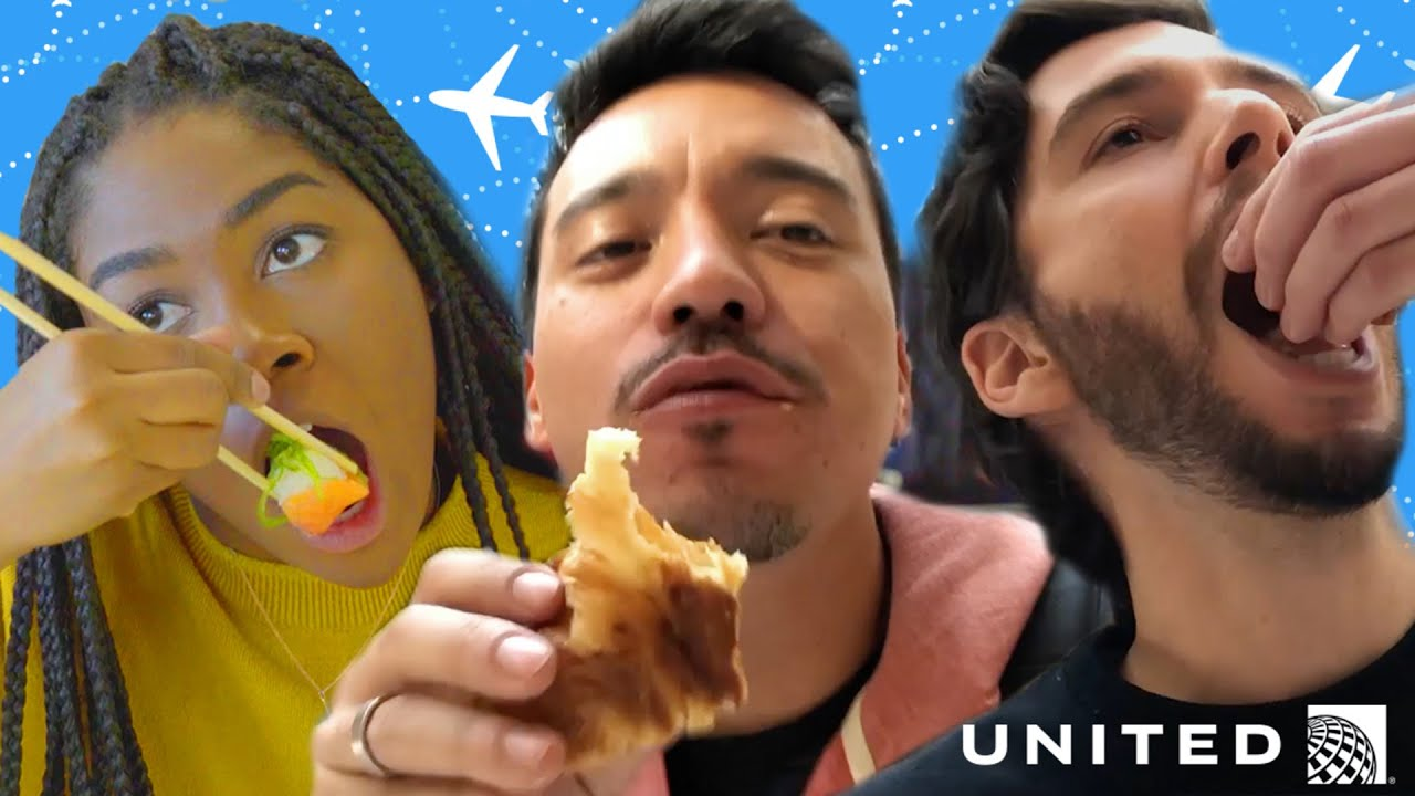 Airport Layover Food Challenge // Presented by BuzzFeed & United Airlines thumbnail