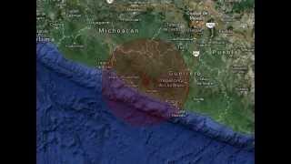 Erdbeben in Mexiko M 7,2 - 18.04.2014 (Karfreitagsbeben)