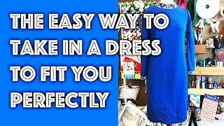 How to Take in a Dress | Sew Anastasia