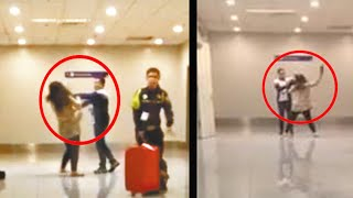 Idiots at airports: Loud Chinese tourist slapped by officer; Woman thinks she's a VIP - Compilation