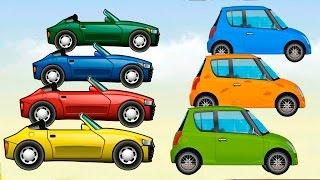 Мультики про машинки - Красим машинки и Учим цвета! Развивающие мультфильмы для детей. Анимашка 2017