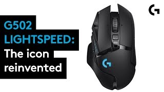 YouTube Video Vs2oHAPSgbY for Product Logitech G502 LIGHTSPEED Wireless Gaming Mouse (910-005565) by Company Logitech in Industry Peripheral