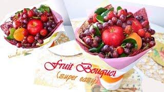 How To Make Fruit Bouquet DIY Fruit Bouquet Tutorial Super Easy Healthy Edible Bouquet