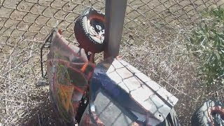 Why You need Killer RC Super Bee Kill Switch Losi 5ive-T Stuck in Fence Crash