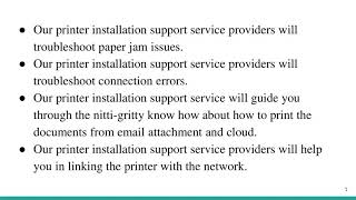 Printer Installation Support Guides with Printer Tech Support Number