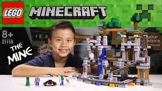 LEGO MINECRAFT - Set 21118 THE MINE - Unboxing, Review, Time-Lapse Build [EvanTubeHD CLASSIC WEEK]