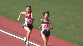 群馬県中学校総体陸上2016女子共通1500m決勝