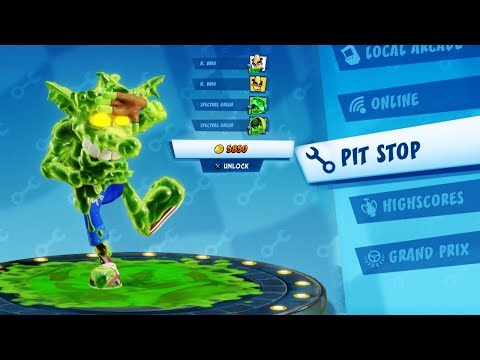 Download CTR: Nitro-Fueled - PIT STOP Spooky Grand Prix | Buying Everything Mp4 HD Video and MP3