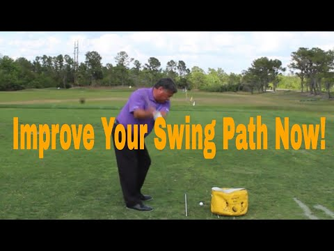 Golf Video Tips, Improve Your Swing Path with the Gate Drill
