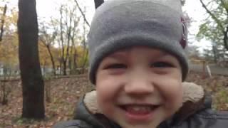 Тимошки в парке Папа развлекается