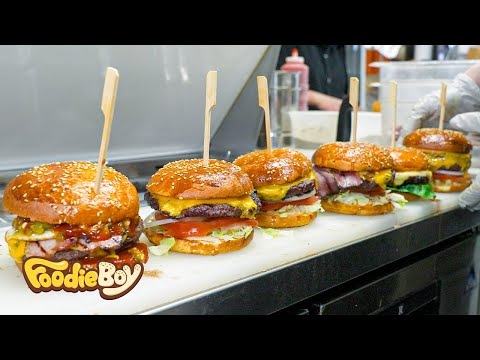 The hamburger that won the 1st place in the US Best Burger Awards