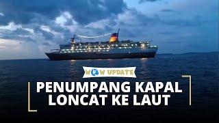 KM Lambelu Dilarang Bersandar, Penumpang Nekat Terjun ke Laut untuk Sampai ke Daratan