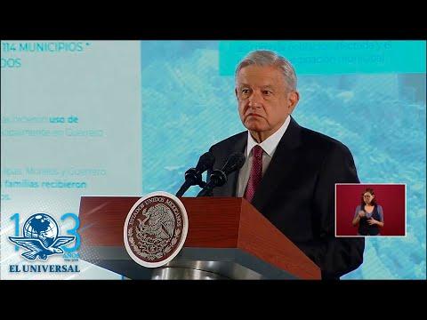 En 2020 concluirá programa de reconstrucción por sismos, afirma AMLO