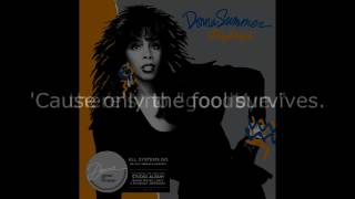 "Donna Summer - Only the Fool Survives (7"" Single) LYRICS SHM ""All Systems Go"" 1987"