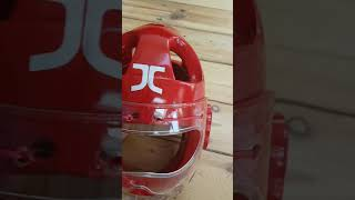 Taekwondo Head Guard with Protective Visor for Children.