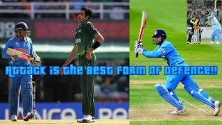 India were 4-2 against Pakistan and then Sehwag Shows Pak that Attack is the Best Form of Defence!!