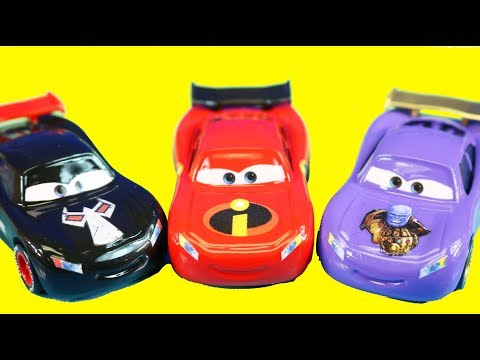 New Disney Cars Lightning McQueen Collection Incredibles 2 PJ Masks Wreck It Ralph & Thanos Car