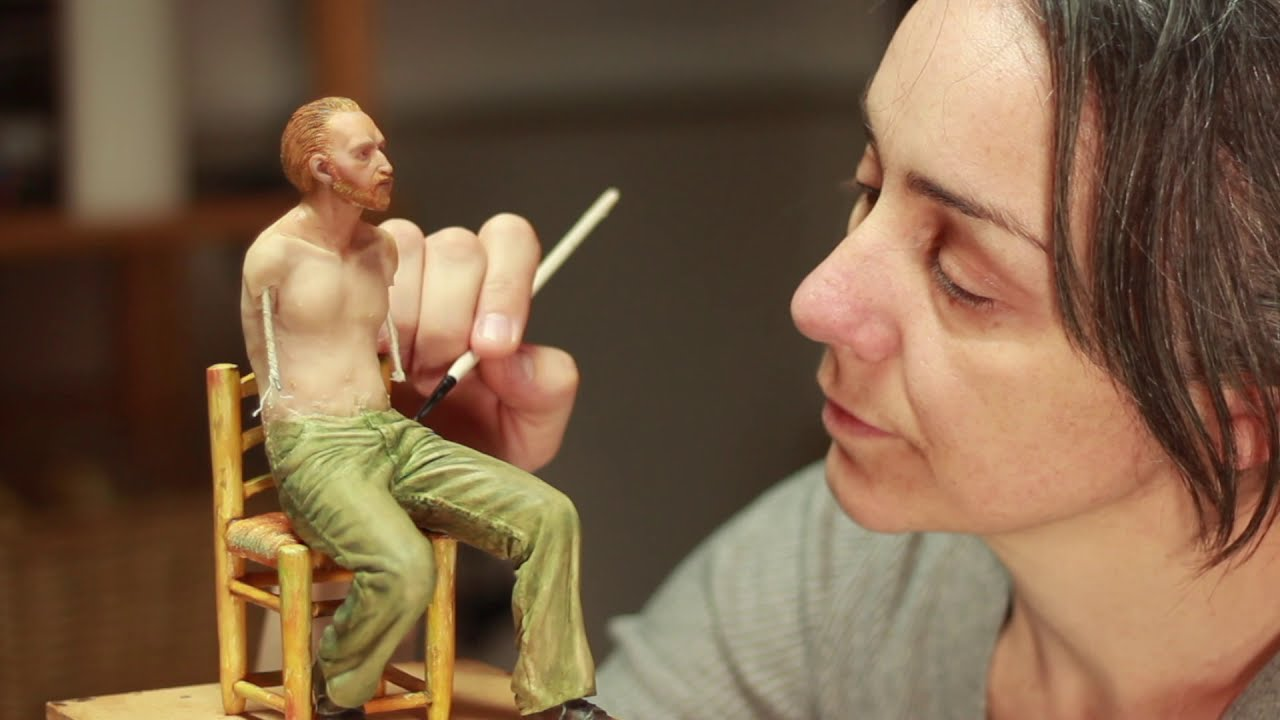 sculpture of van gogh tutorial by juliana lepine