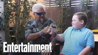 Guy Fieri Surprises Fan & Chopped Junior Champ Fuller Goldsmith At Stagecoach | Entertainment Weekly