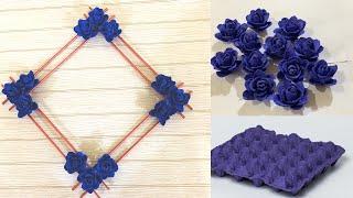 DIY - Egg Tray Craft Ideas    WALL DECOR IDEAS    EGG CARTON FLOWER   Home Decor Ideas  CRAFT IDEAS