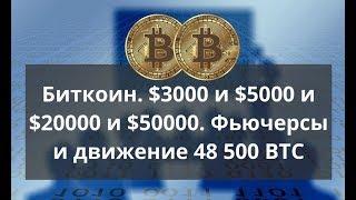 Биткоин  $3000 и $5000 и $20000 и $50000  Фьючерсы и движение 48 500 BTC