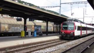 preview picture of video 'Trains passing through Neuchatel Railway Station'